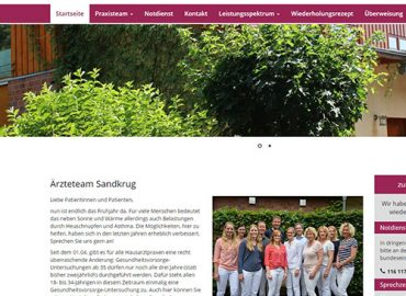 Ärzteteam Sandkrug Website